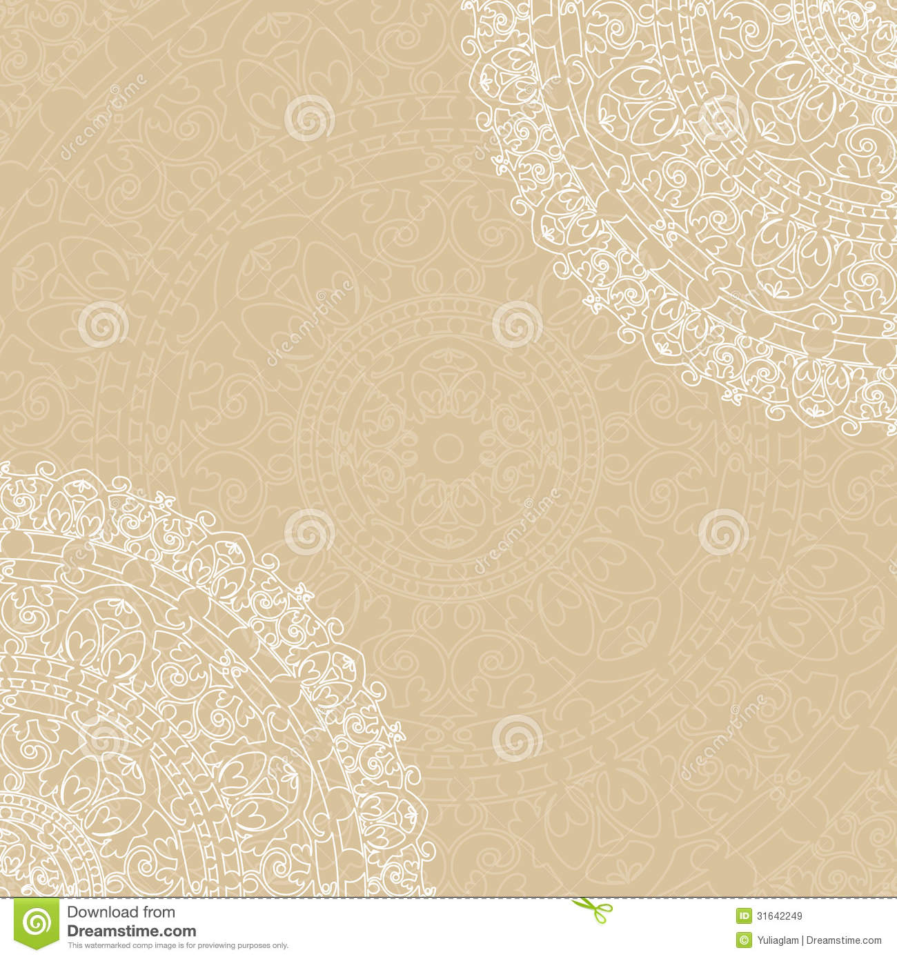 Beige Background With Napkin Royalty Free Stock Images