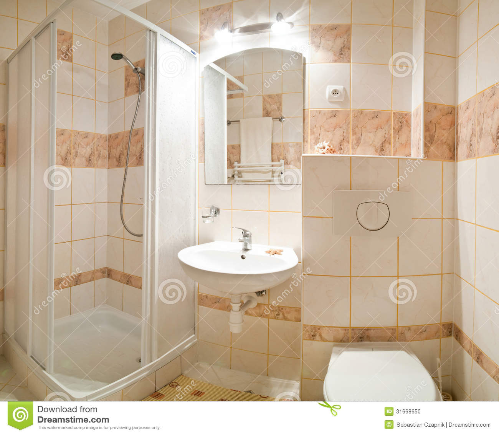 beige badezimmer stockfoto - bild: 31668650