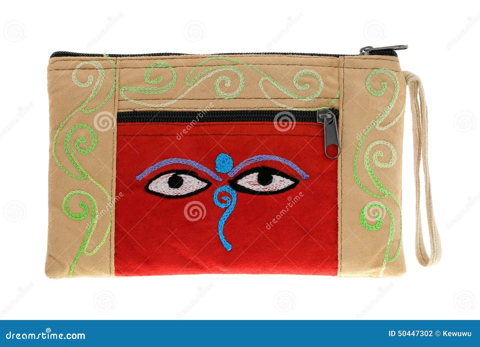 Eyes of buddha isolated symbol stock illustration illustration beige bag with symbol nepali buddha eyes stock photography biocorpaavc Images