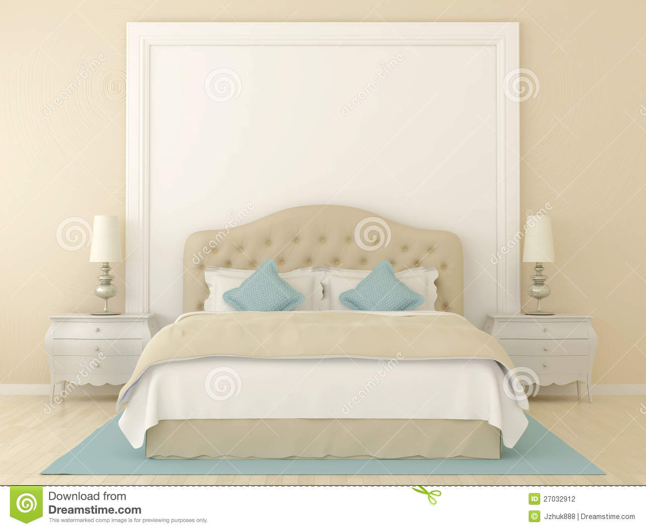 Beige Bedroom Stock Photography Image 27032912