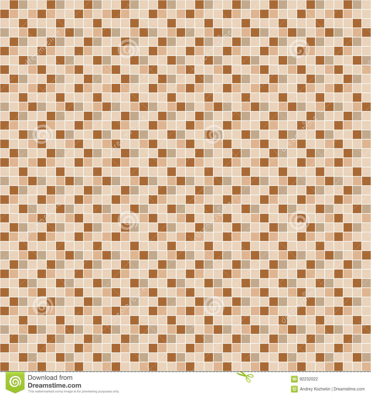 Beige and brown ceramic tile mosaic pattern stock vector beige and brown ceramic tile mosaic pattern dailygadgetfo Images