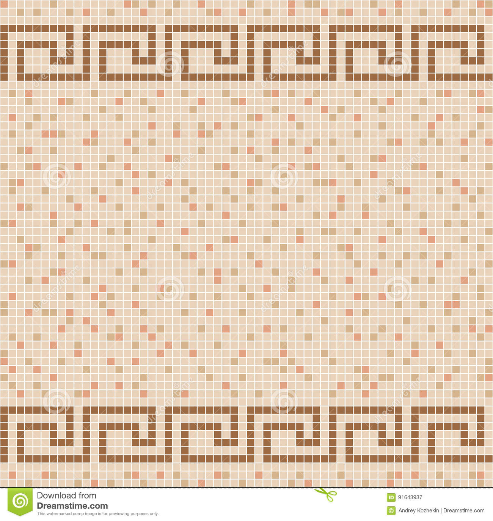 Beige Ceramic Tile Mosaic Pattern Stock Vector Illustration Of