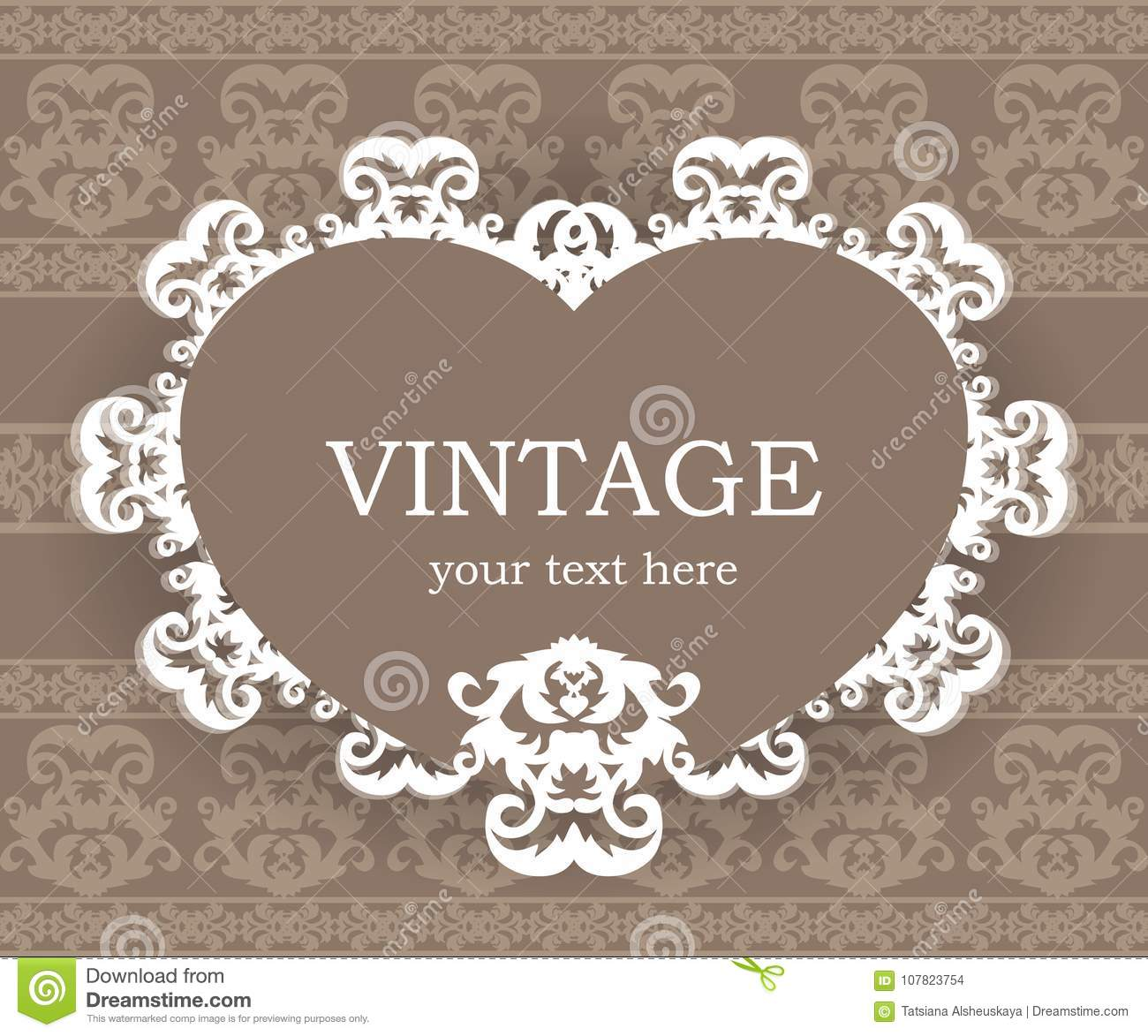 Beige Classic Frame Vintage Background Elegant Design Element