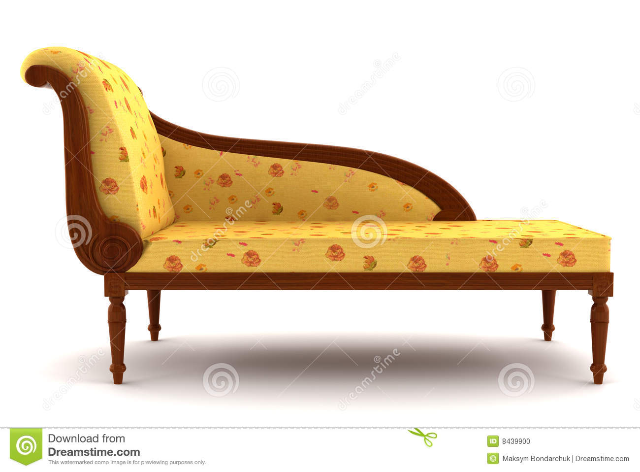 Beige classic sofa isolated on white background stock for Vintage divan sofa
