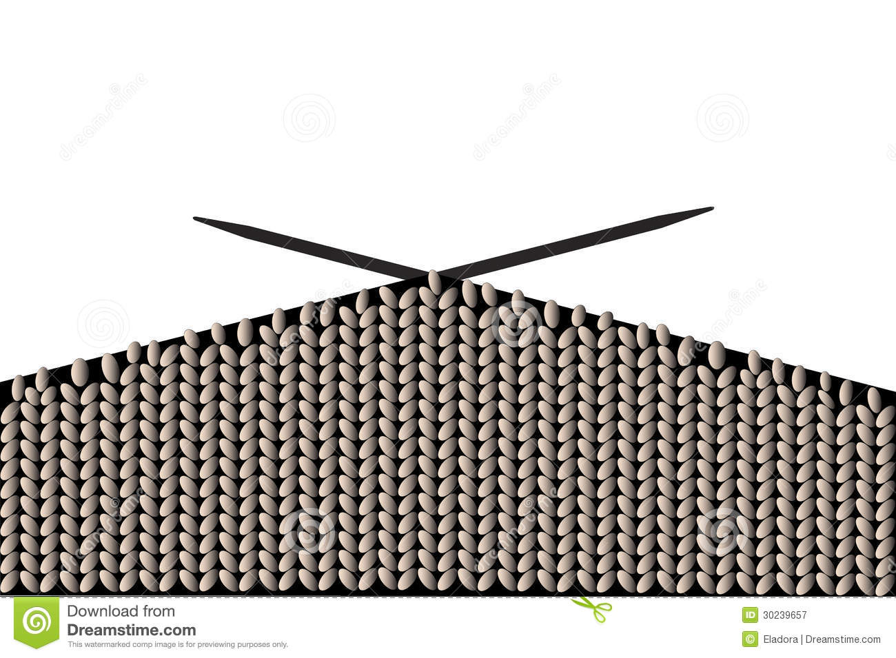 Knitting Stitches Vector : Knitting, Vector Royalty Free Stock Photography - Image: 30239657