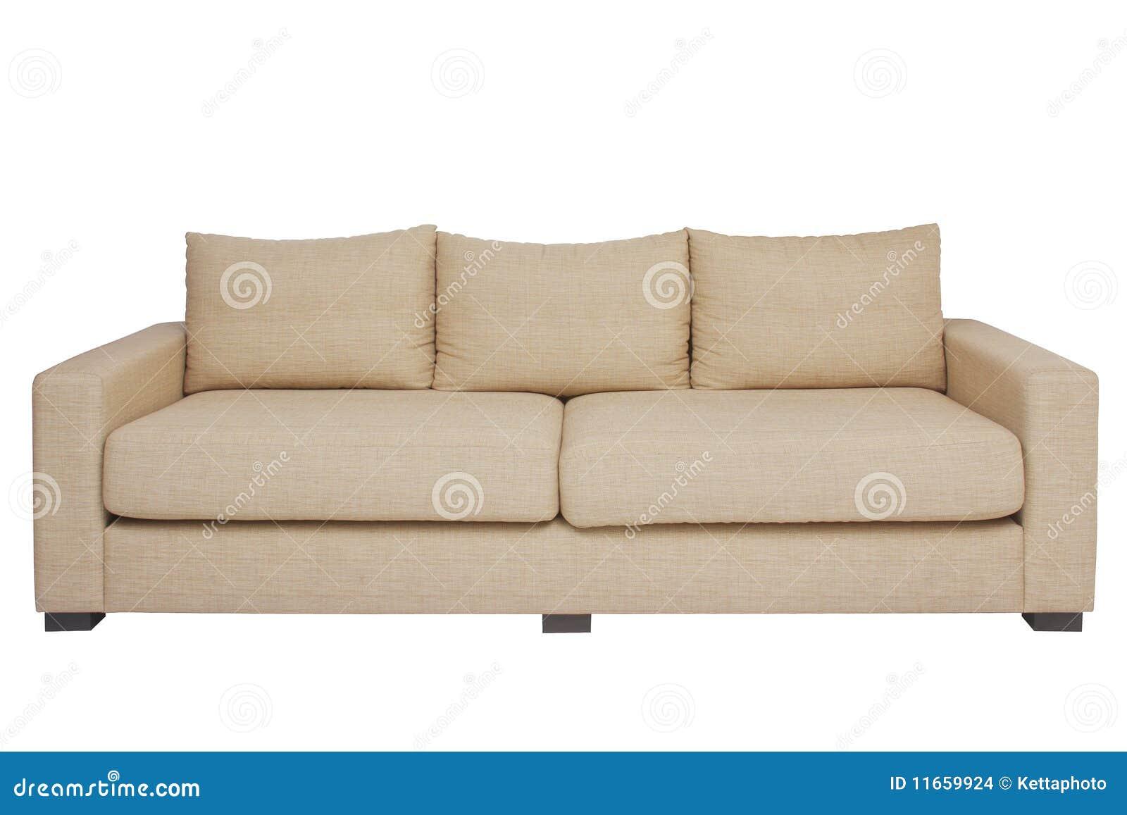 beige couch auf wei stockfoto bild von leben dekoration 11659924. Black Bedroom Furniture Sets. Home Design Ideas