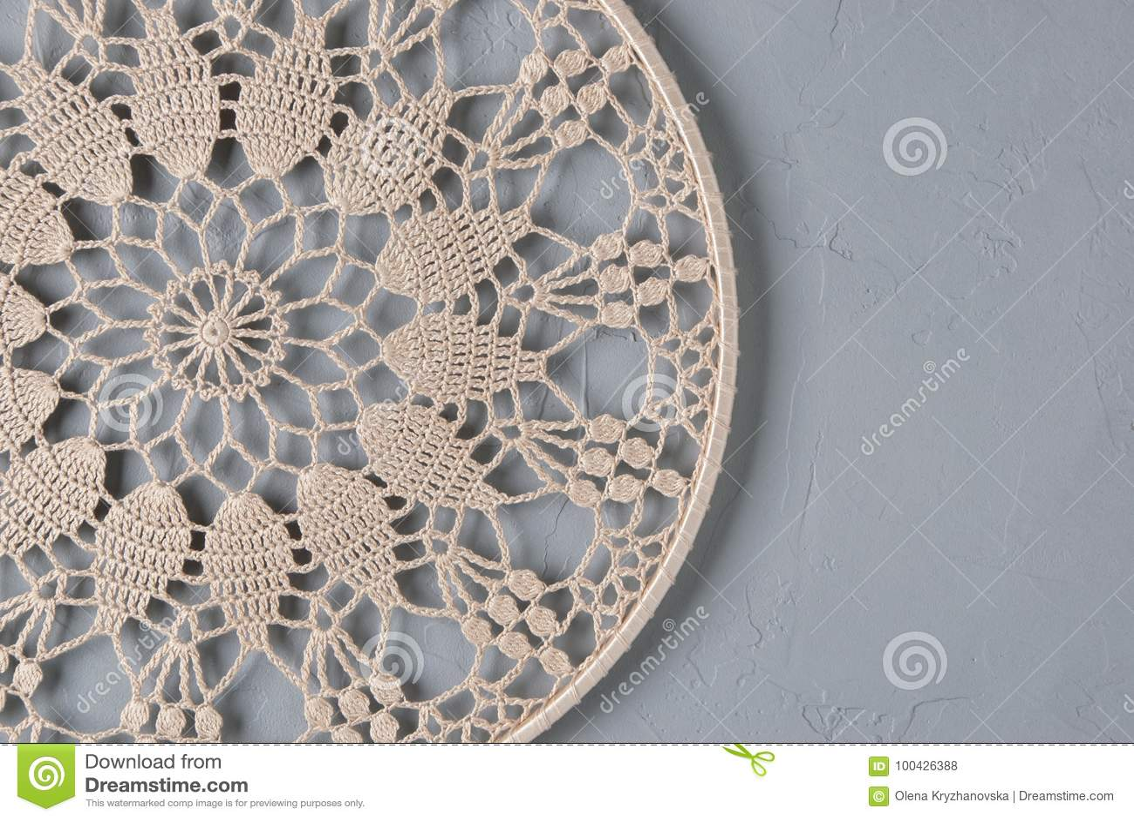 Beige Crochet Doily Dream Catcher Stock Photo Image Of Dream