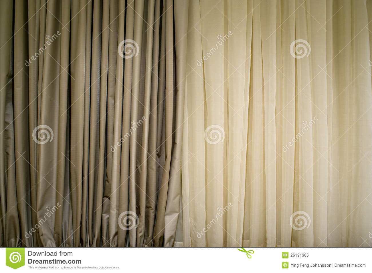 Beige Curtain Royalty Free Stock Photo - Image: 26191365