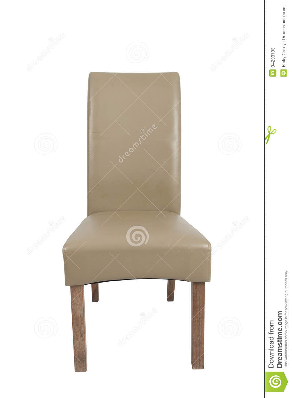 single wooden dining room chair on a white background