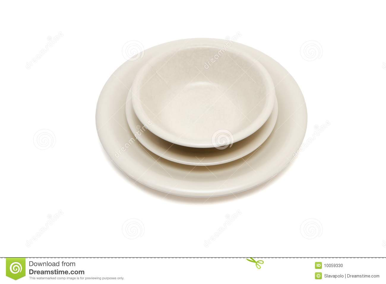 beige dinner plate soup plate and saucer i stock photo image of