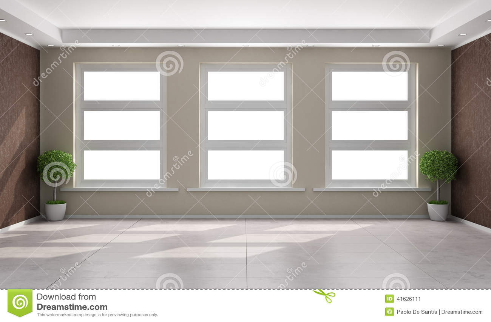 Minimalistische Bruine Woonkamer Royalty-vrije Stock Afbeelding ...