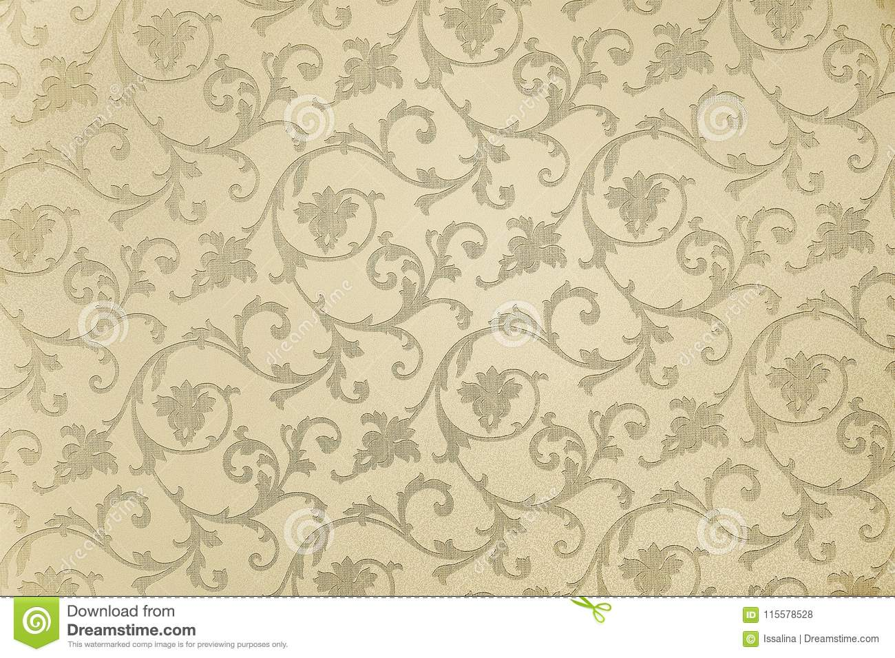 Beige Floral Wallpaper Background Texture Stock Photo Image Of