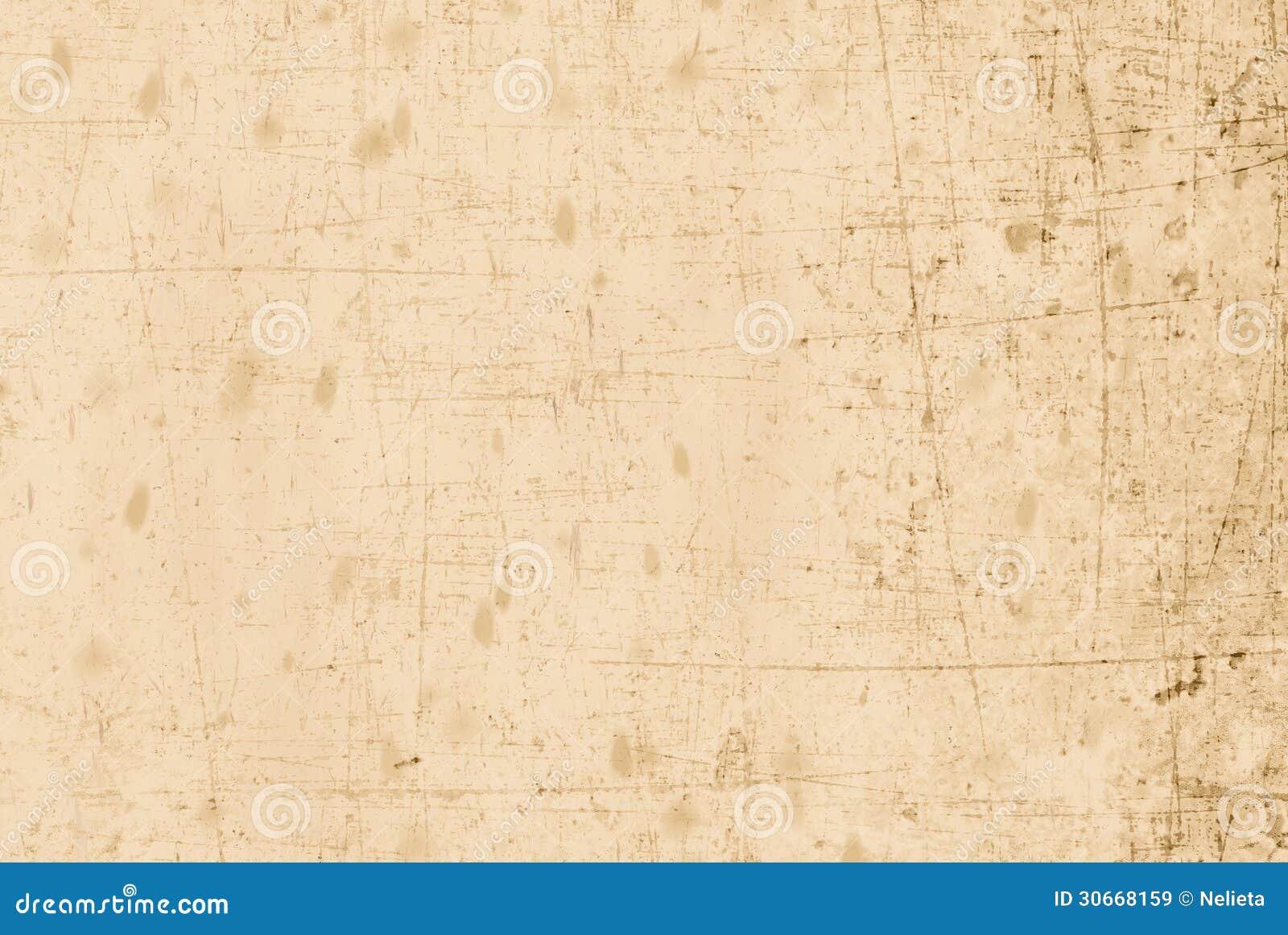 Beige gammalt och skrapat papper