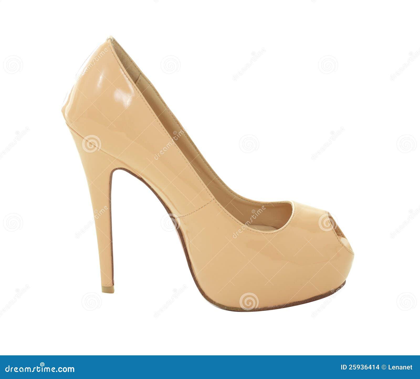 beige high heels stock photo image of modern fetish 25936414. Black Bedroom Furniture Sets. Home Design Ideas