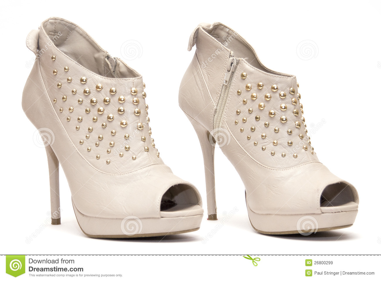 Beige High Heels Royalty Free Stock Images - Image: 26800299