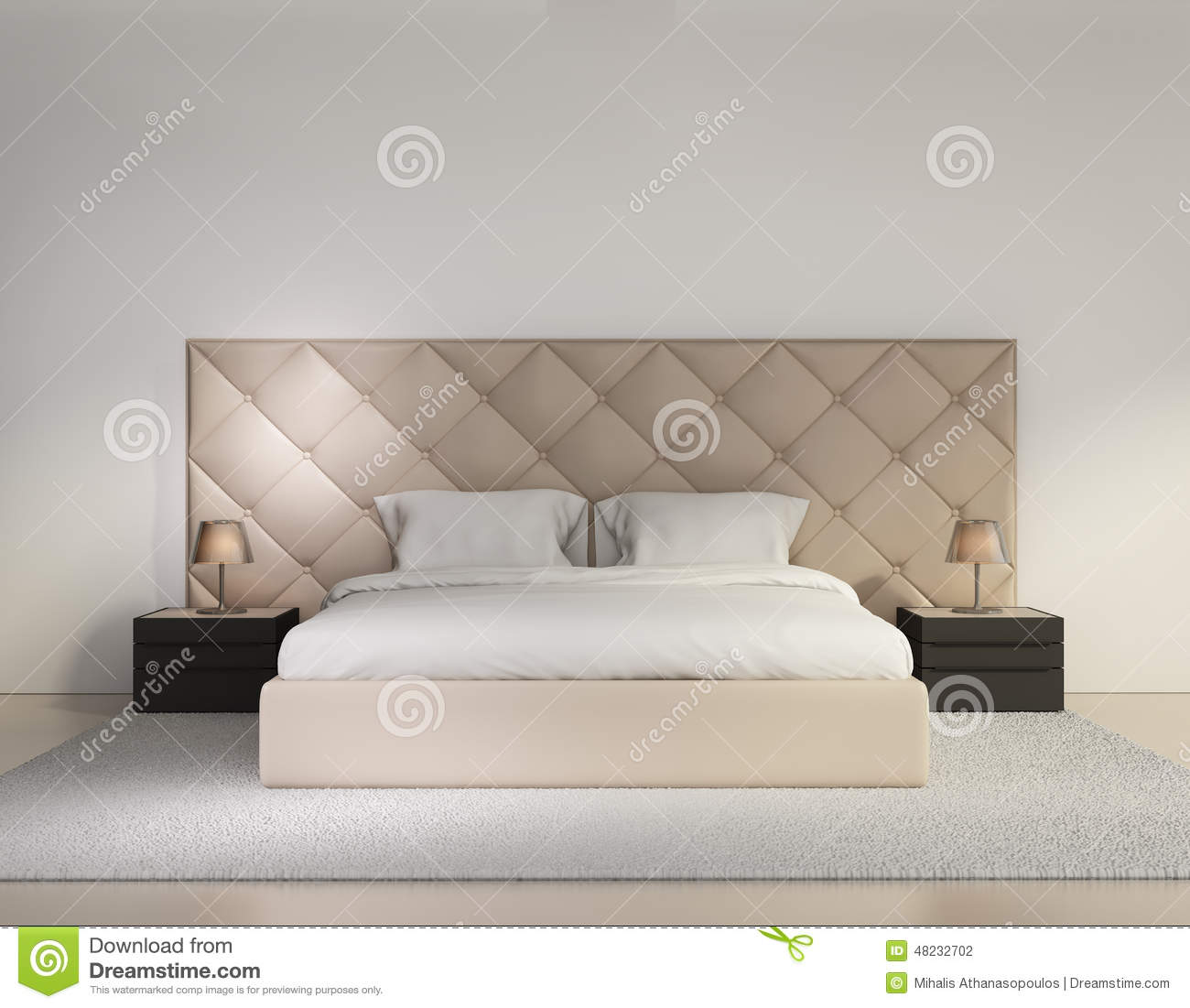 Luxury bedroom royalty free stock photography for Chambre a coucher beige