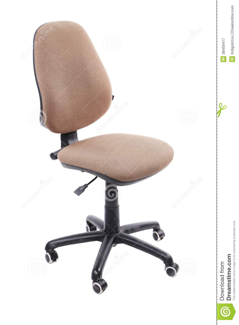 beige office chair close up. royalty free stock photography
