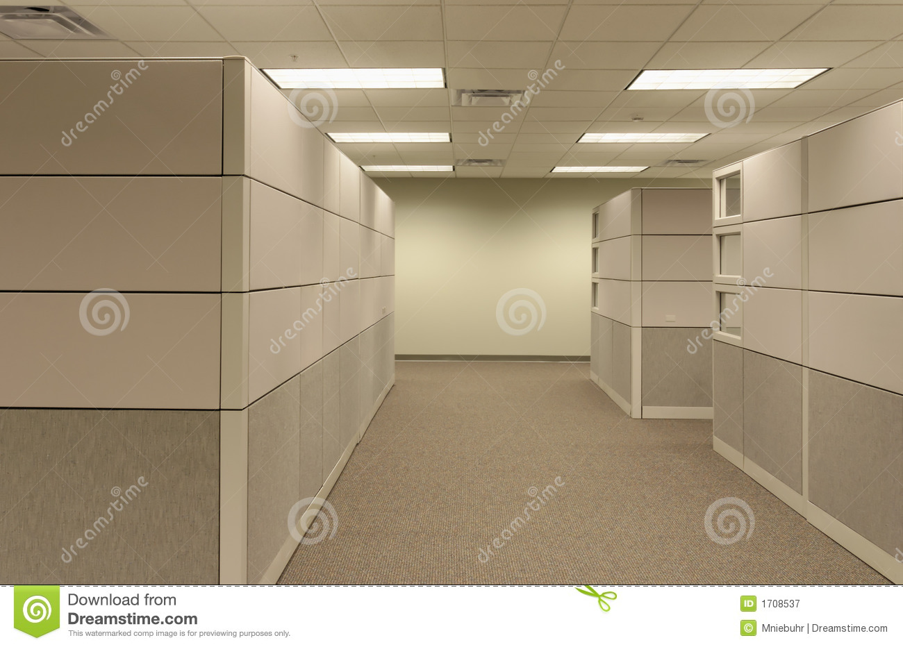 Royalty Free Stock Photography: Beige open generic Office Cubical
