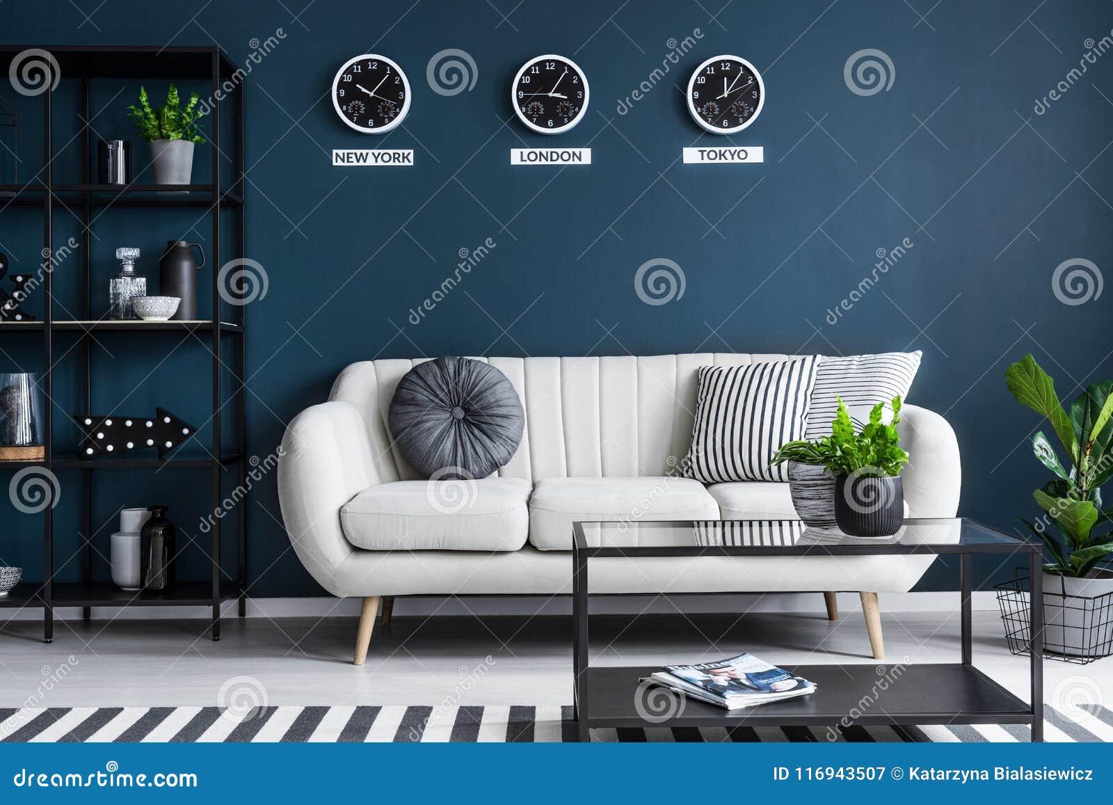 Fantastic Beige Sofa In Dark Interior Stock Image Image Of Living Beatyapartments Chair Design Images Beatyapartmentscom