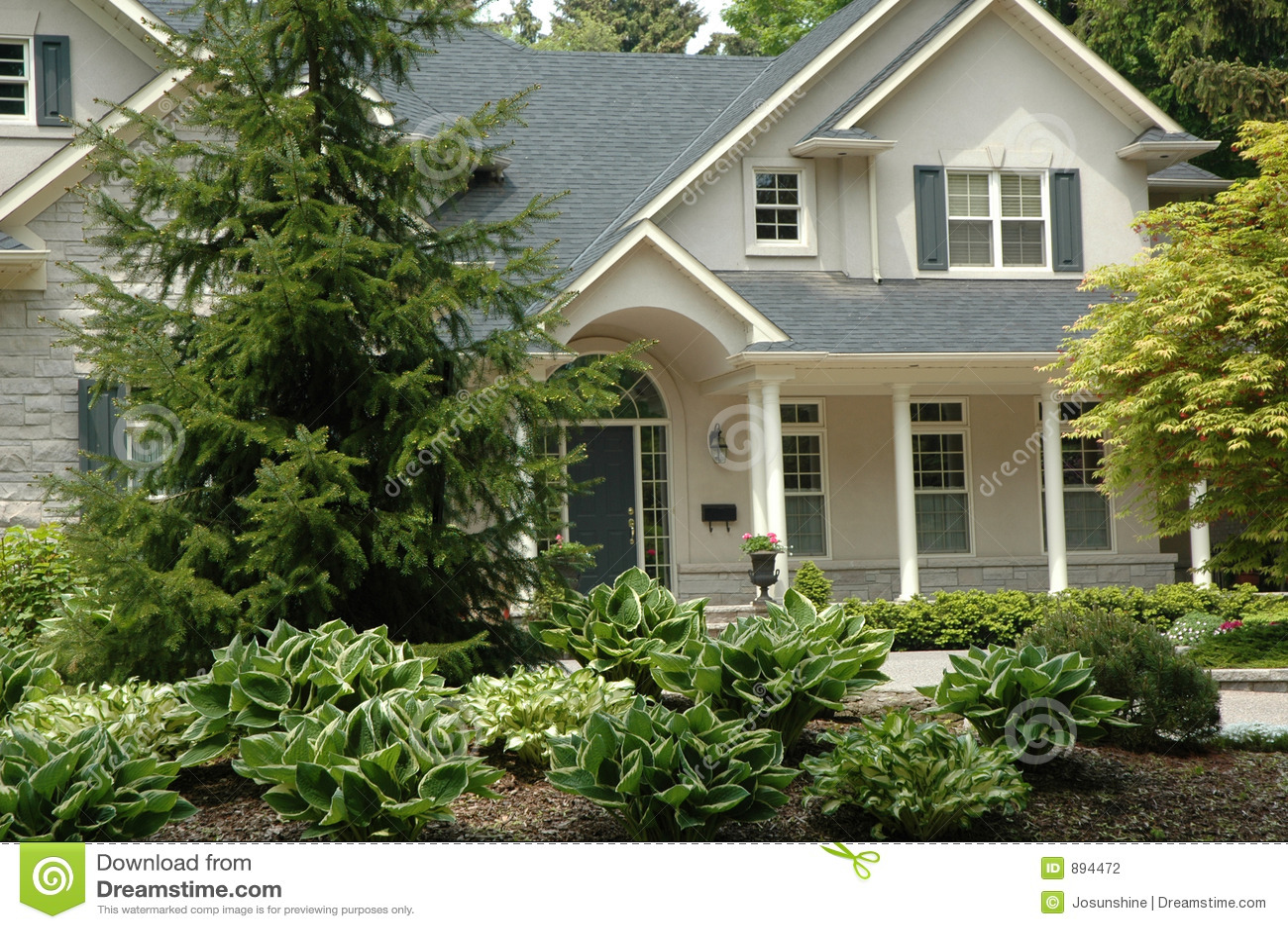 Beige Stuck Haus Stockfotografie   Bild: 894472