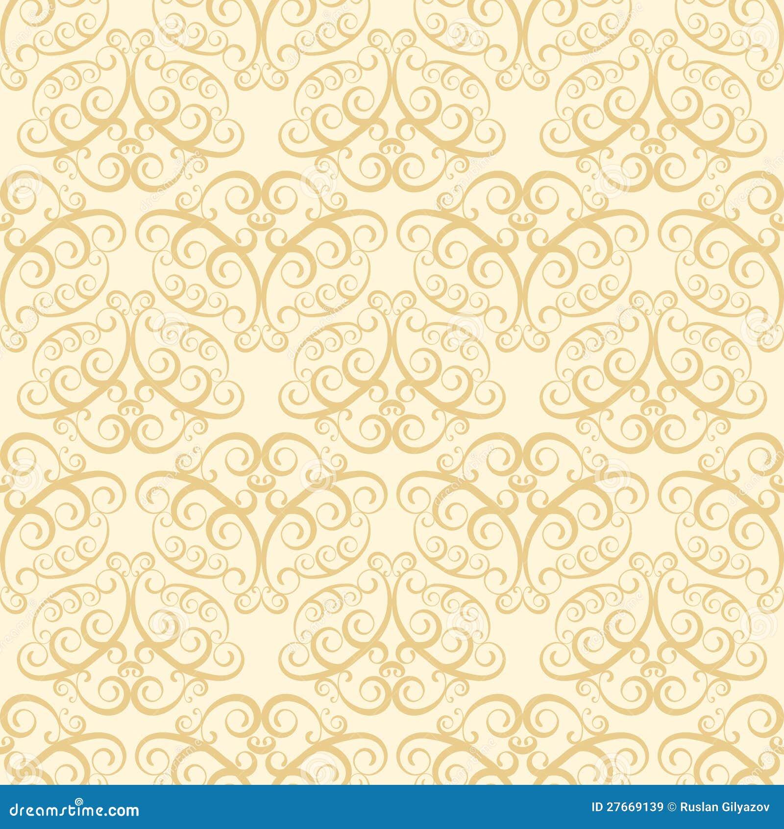 Beige Wallpaper Pattern Stock Vector Illustration Of Carpet
