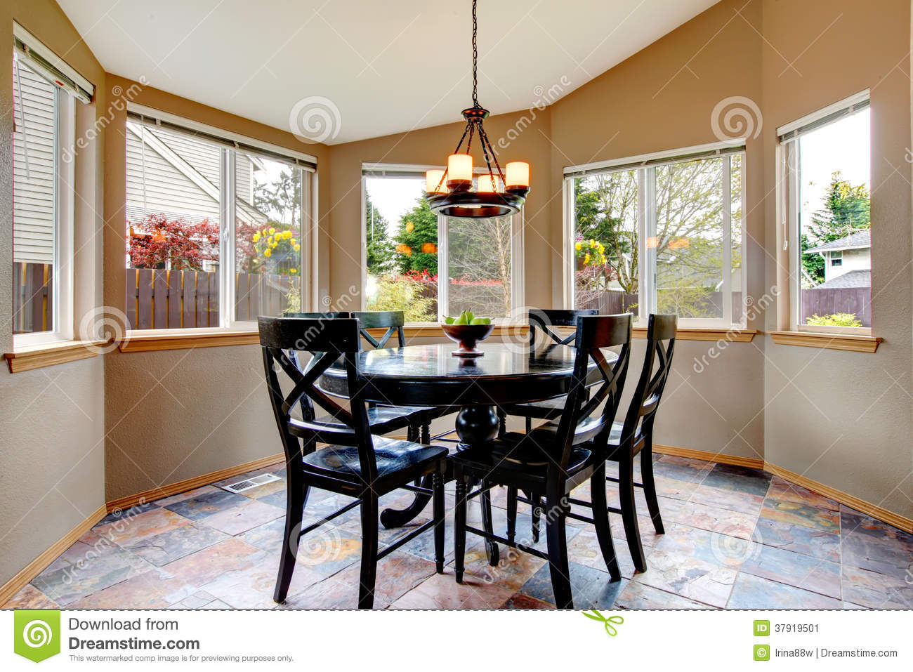 Beighe Round Corner Dining Room Stock Image Image Of