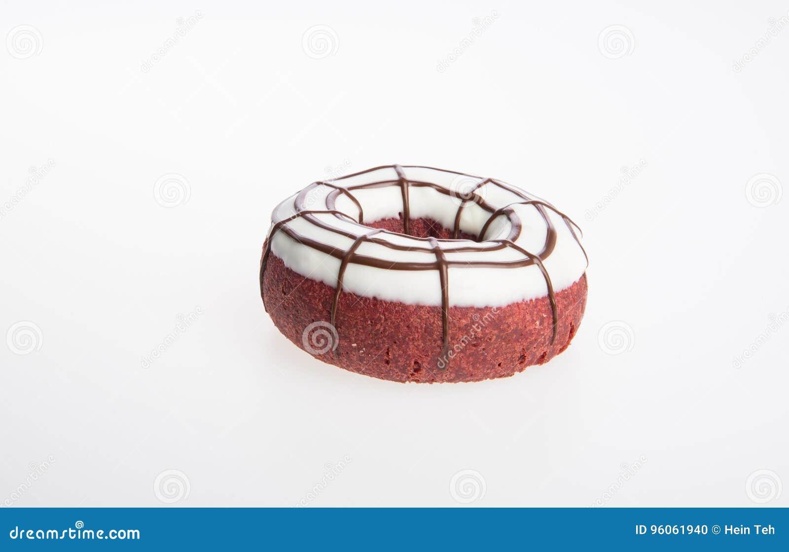 Beignet ou beignet de chocolat sur un fond