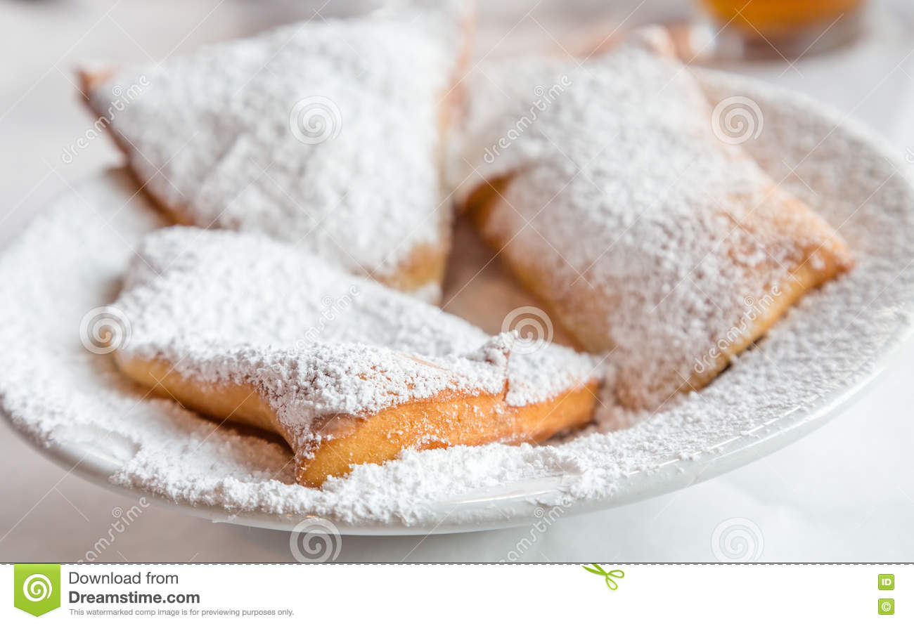 Beignets on Plate