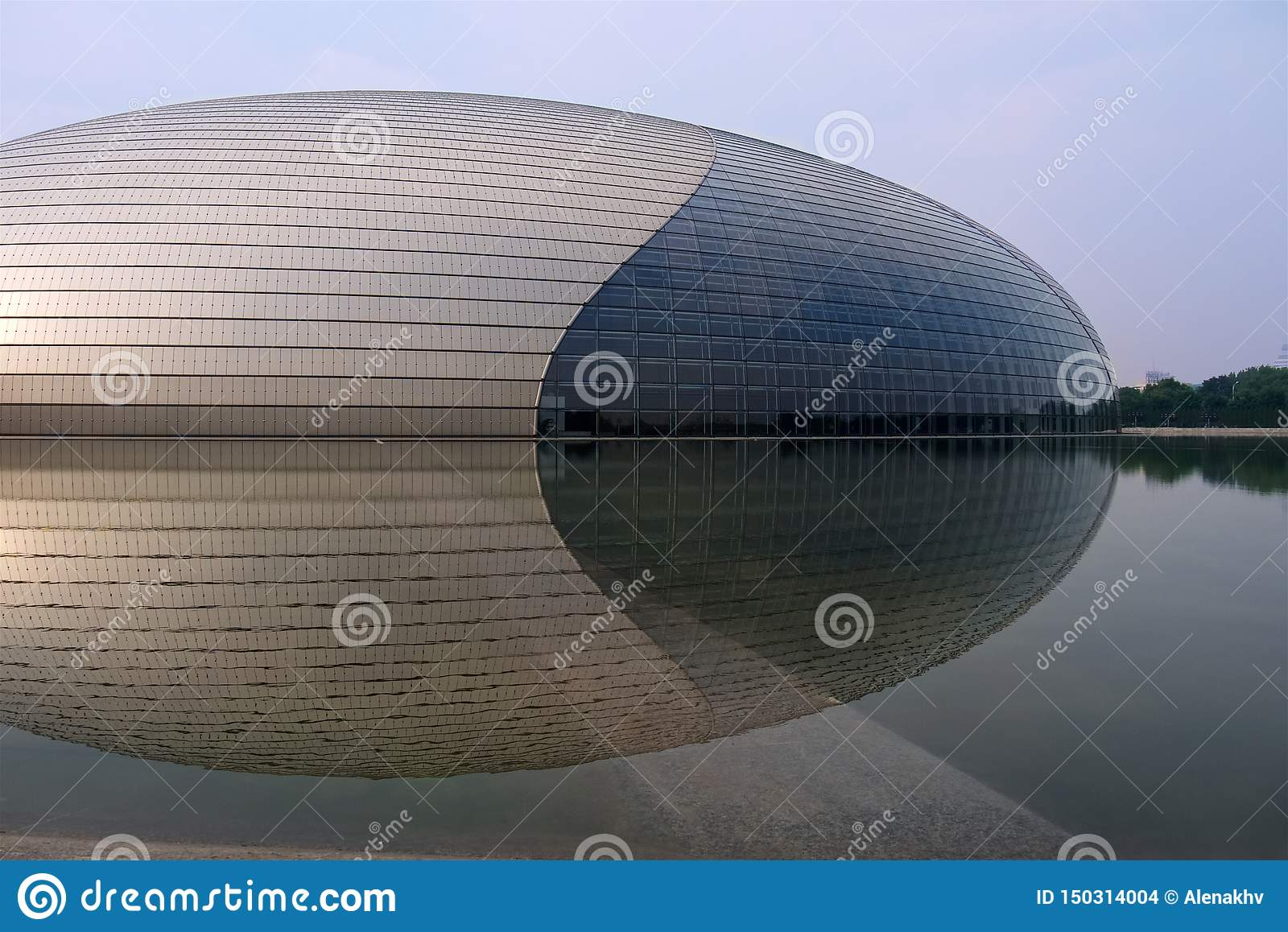 Beijing, China - August 17, 2011: Beijing`s famous architectural building and landmark National Center for the Performing Arts