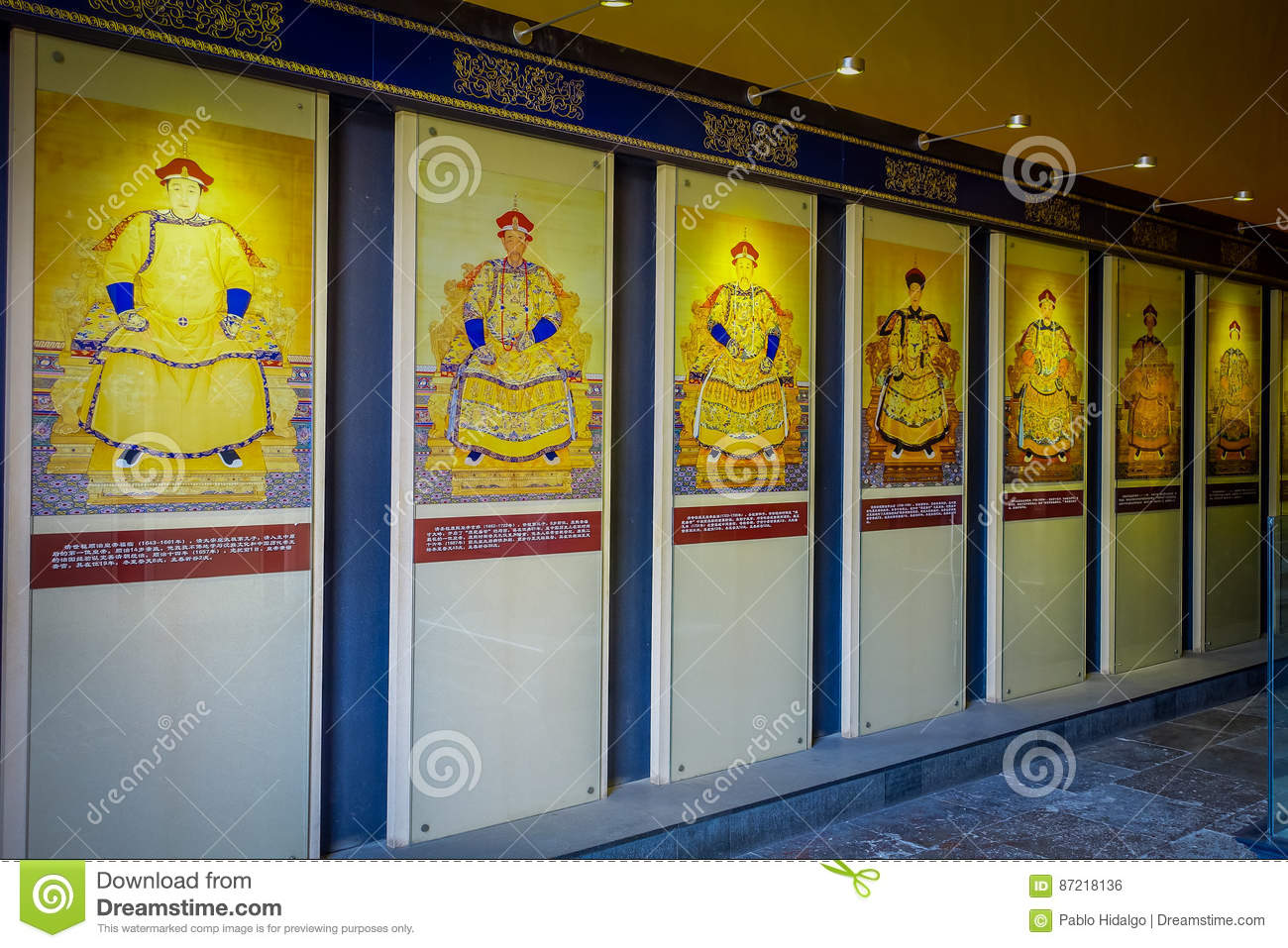 BEIJING, CHINA - 29 JANUARY, 2017: Decorated Walls Showing Ancient ...