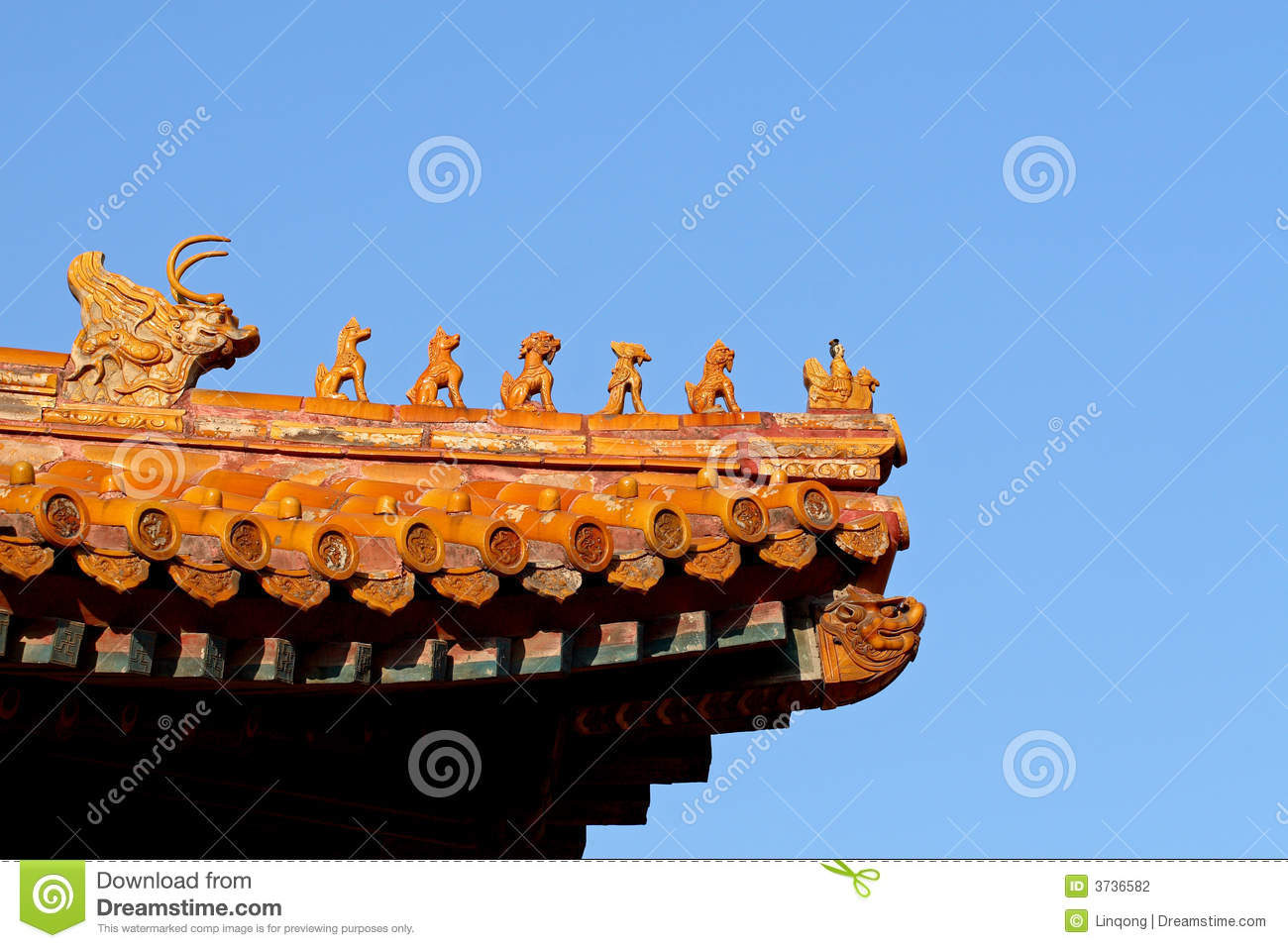 Chinese Eave Roof Chinese Temple Roof Stock Photo
