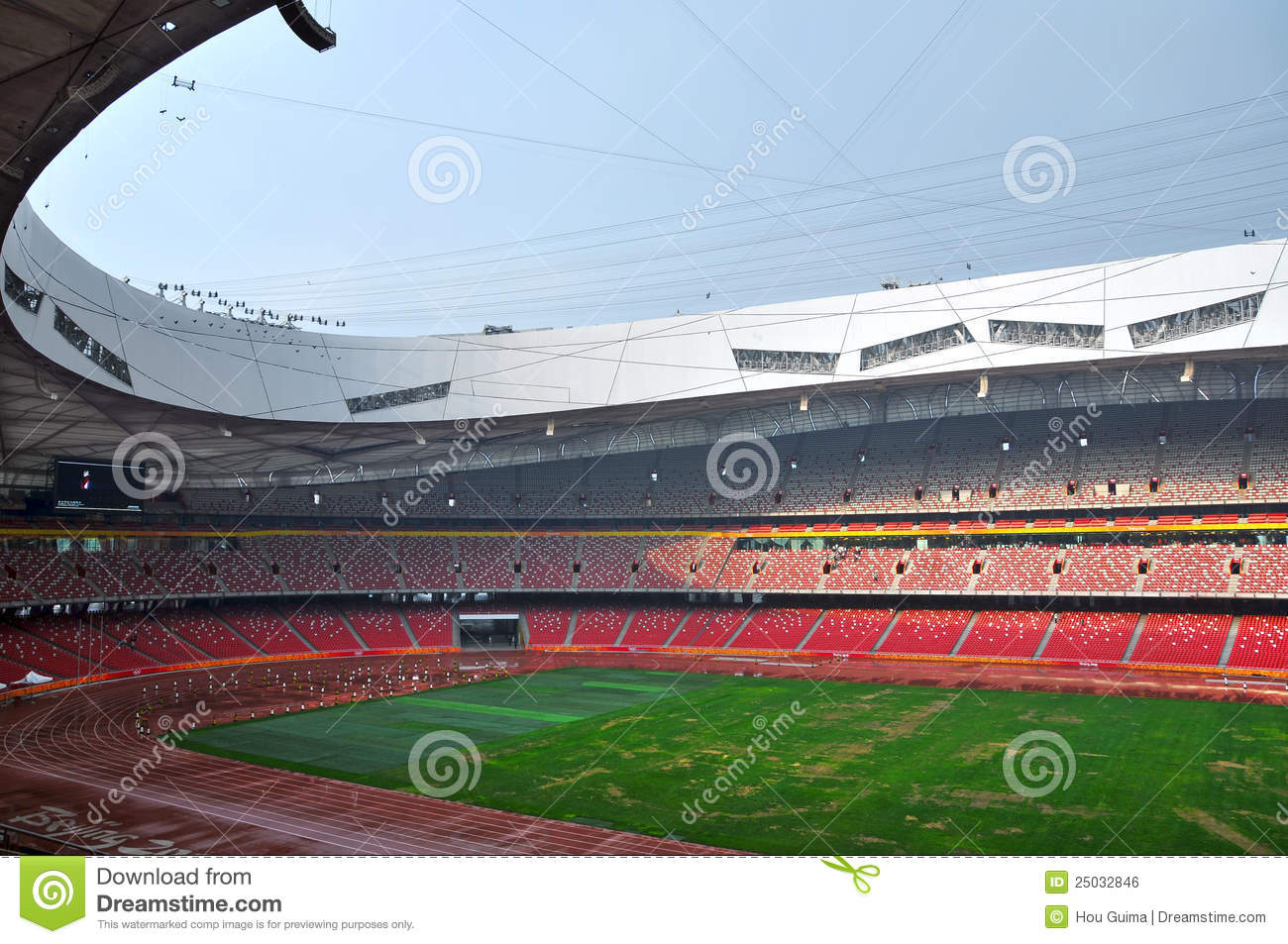 Beijing national stadium bird 39 s nest editorial photo for Nest bird stadium