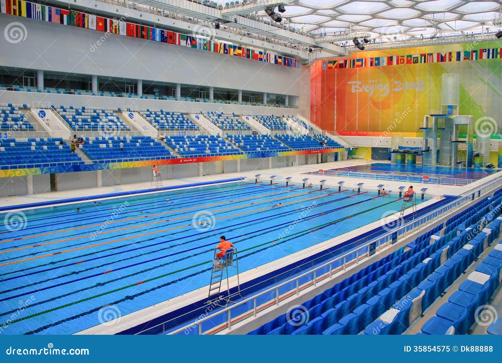 Beijing 2008 Olympic Swimming Pool Editorial Image Image