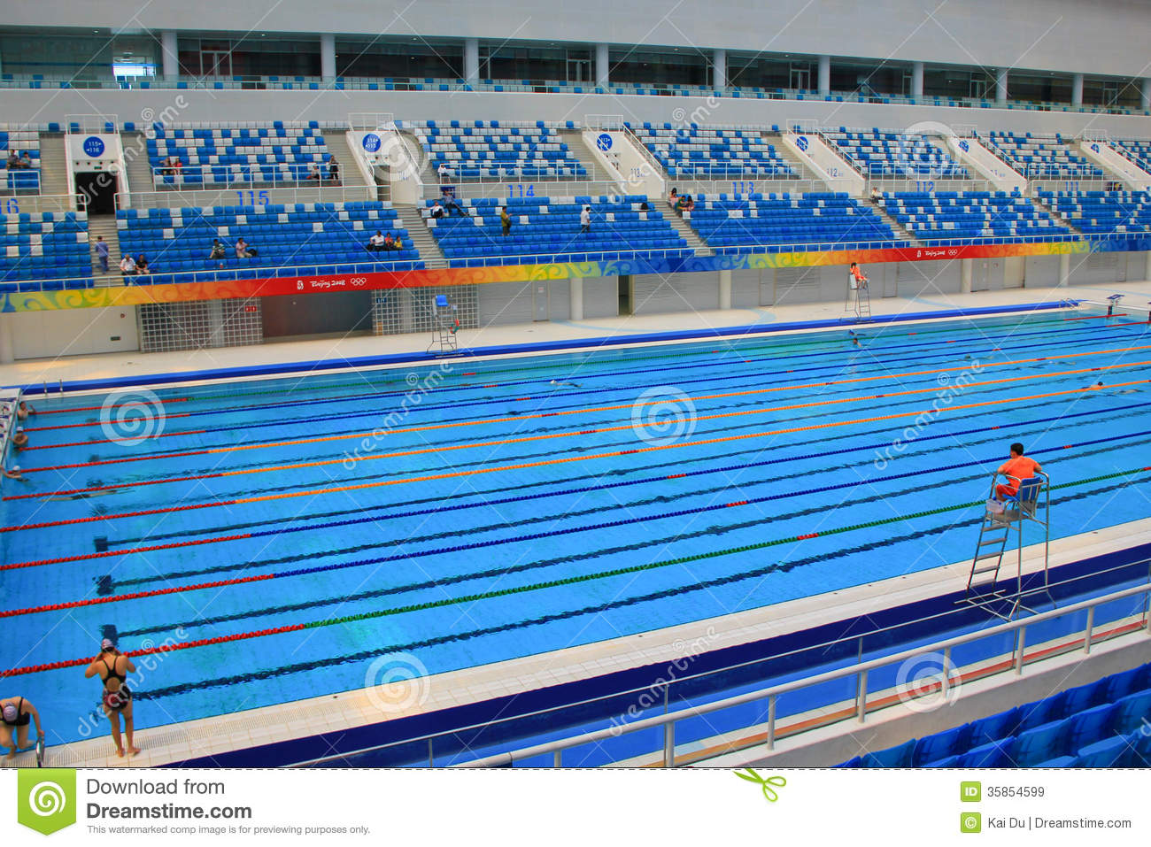 Beijing 2008 olympic swimming pool editorial stock image image of freestyle break 35854599 for Beijing swimming pool olympics