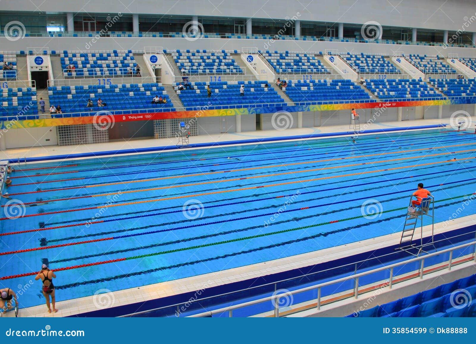 Beijing 2008 Olympic Swimming Pool Editorial Stock Image Image 35854599