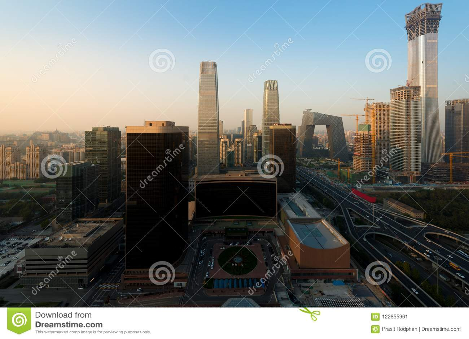 Beijing pejzaż miejski półmrok Krajobraz Pekin biznesu buildin