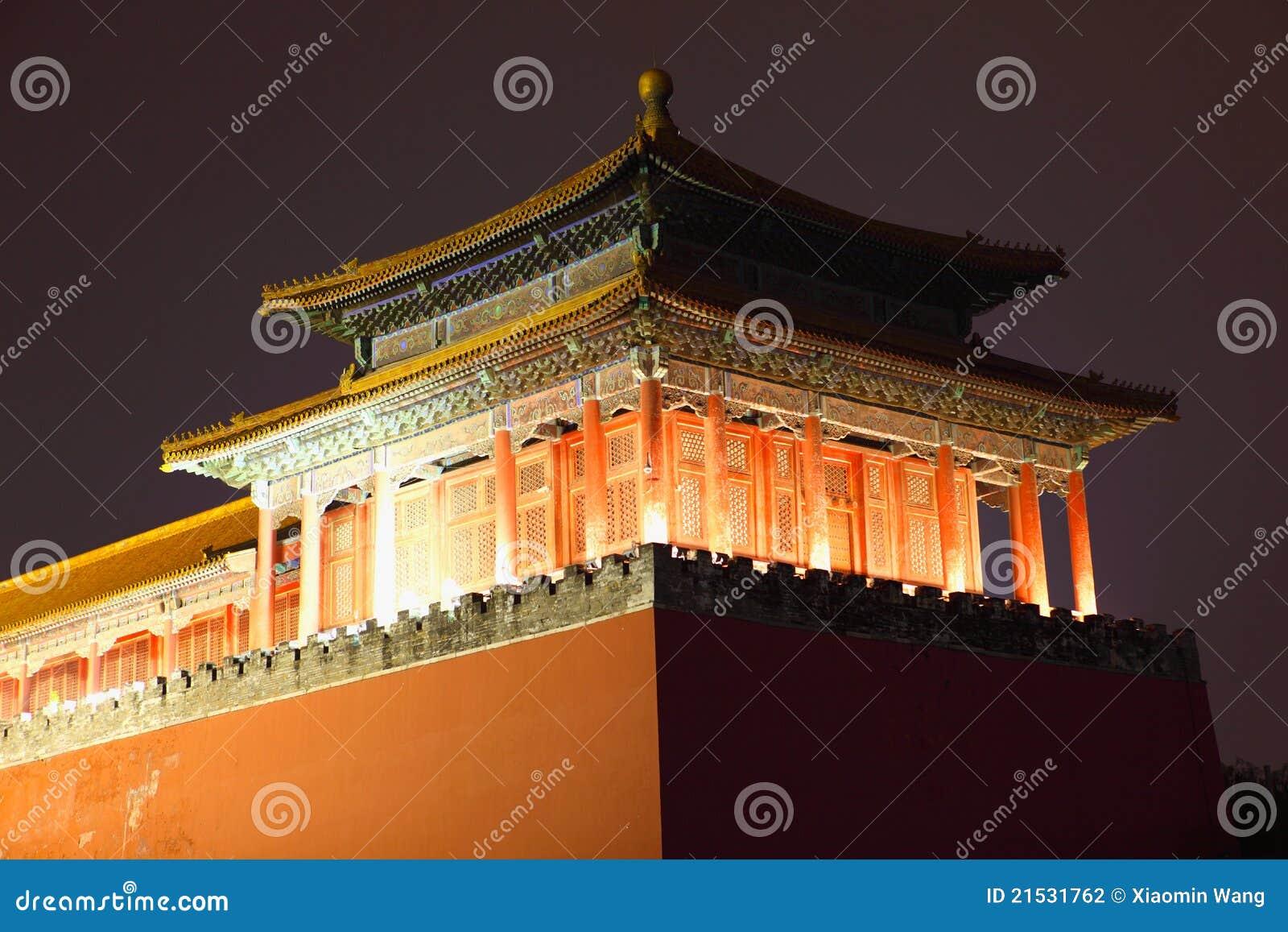 Beijing porcelanowy miasta półmrok zakazujący