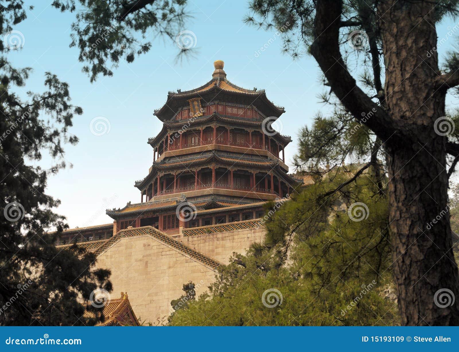 Beijing porcelanowy pałac lato