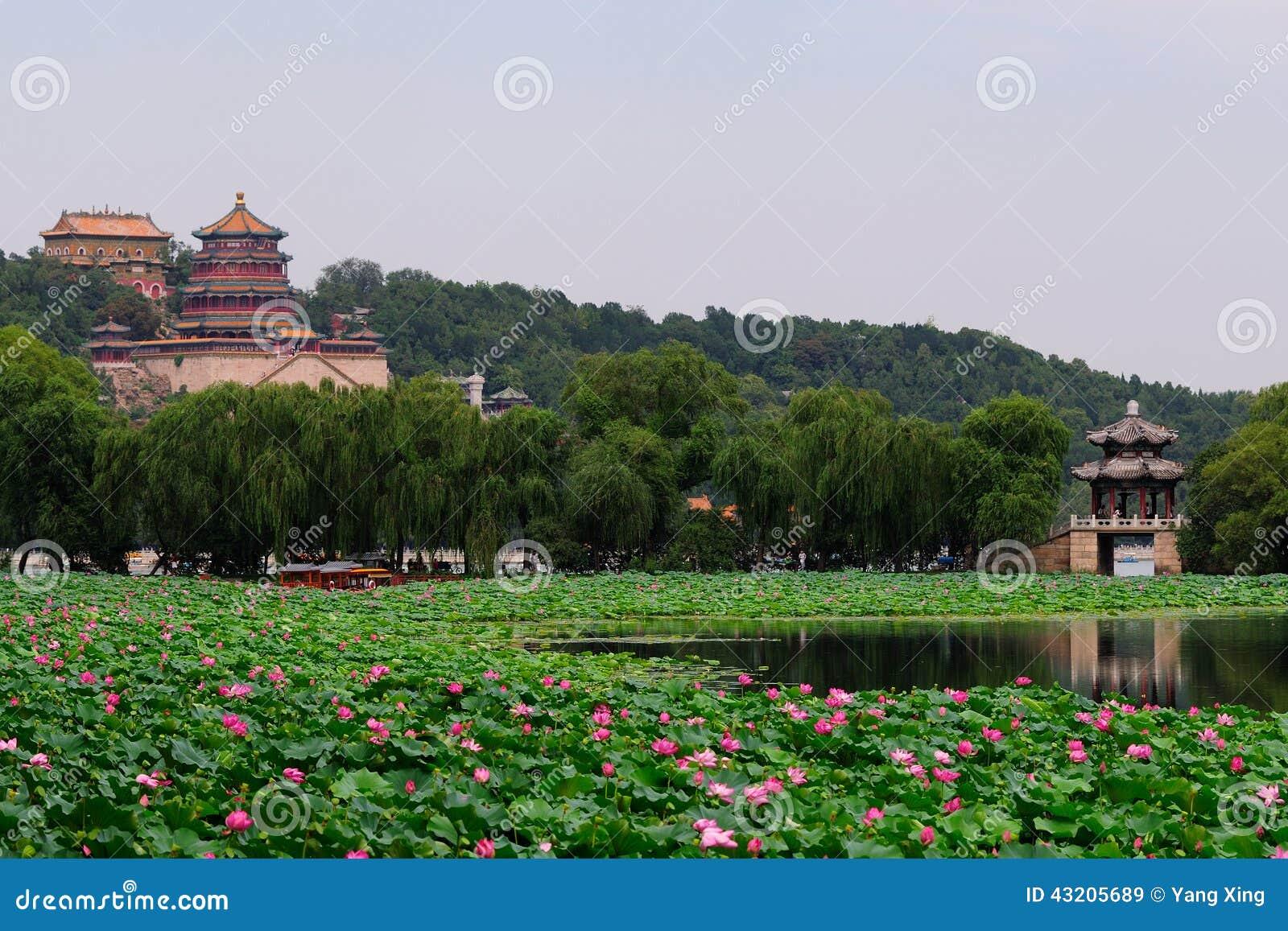 Download Beijing slottsommar fotografering för bildbyråer. Bild av sommar - 43205689
