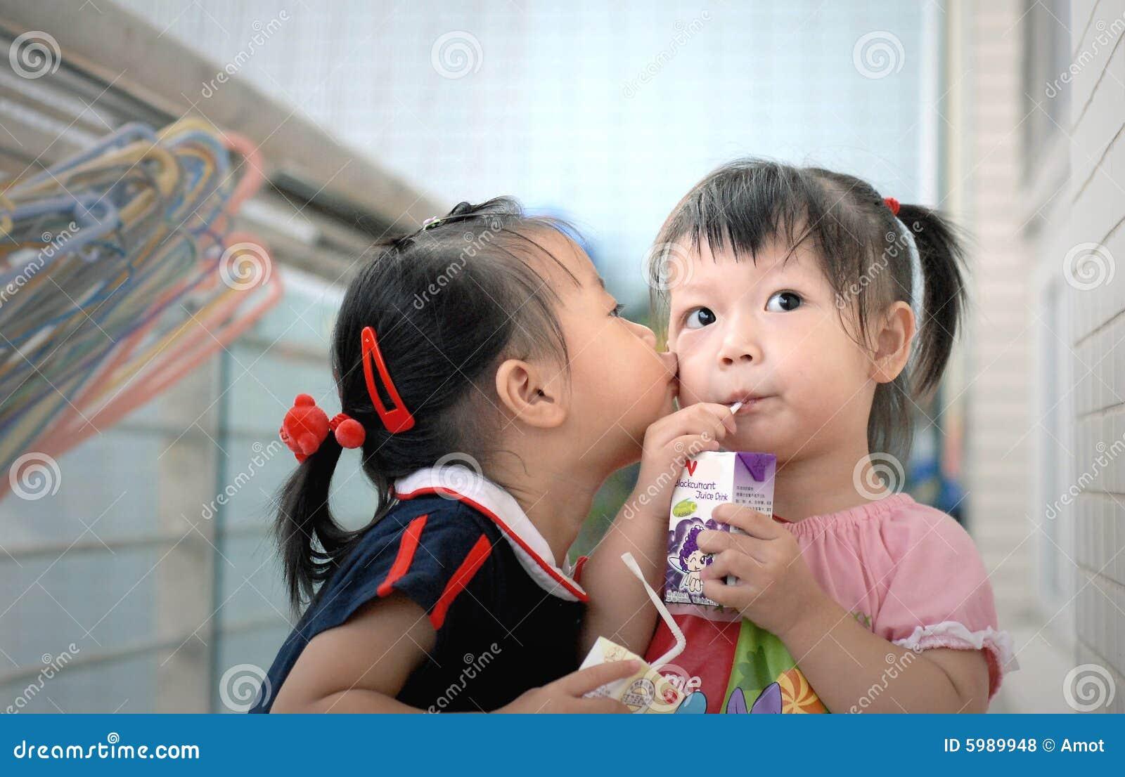 Beijo das crianças