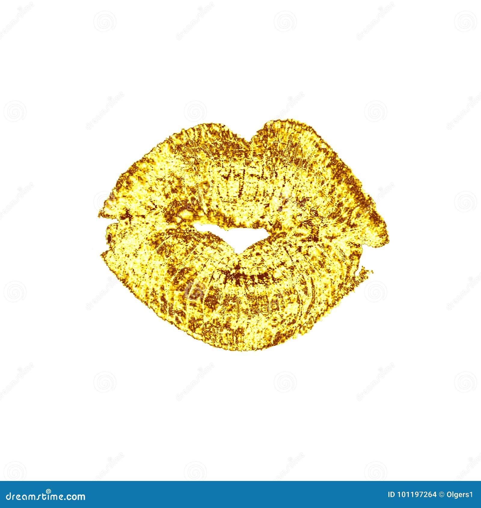 Beijo luxuoso dourado bonito dos bordos