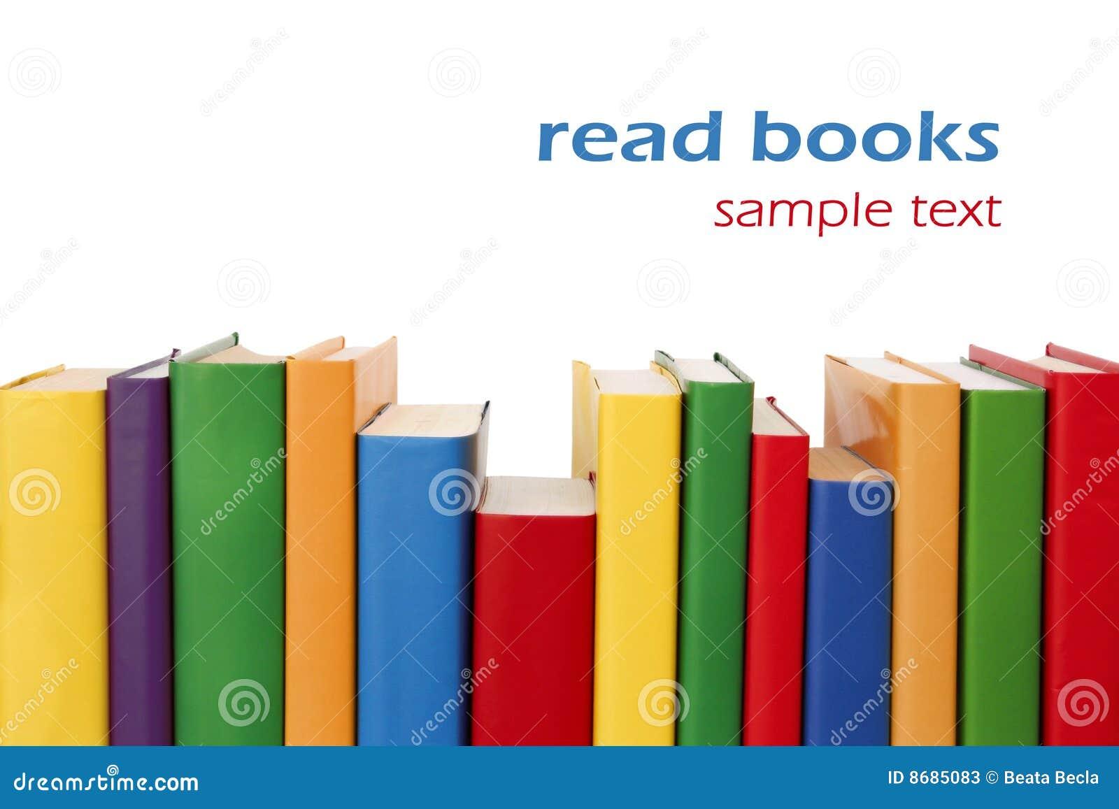 Beira colorida dos livros