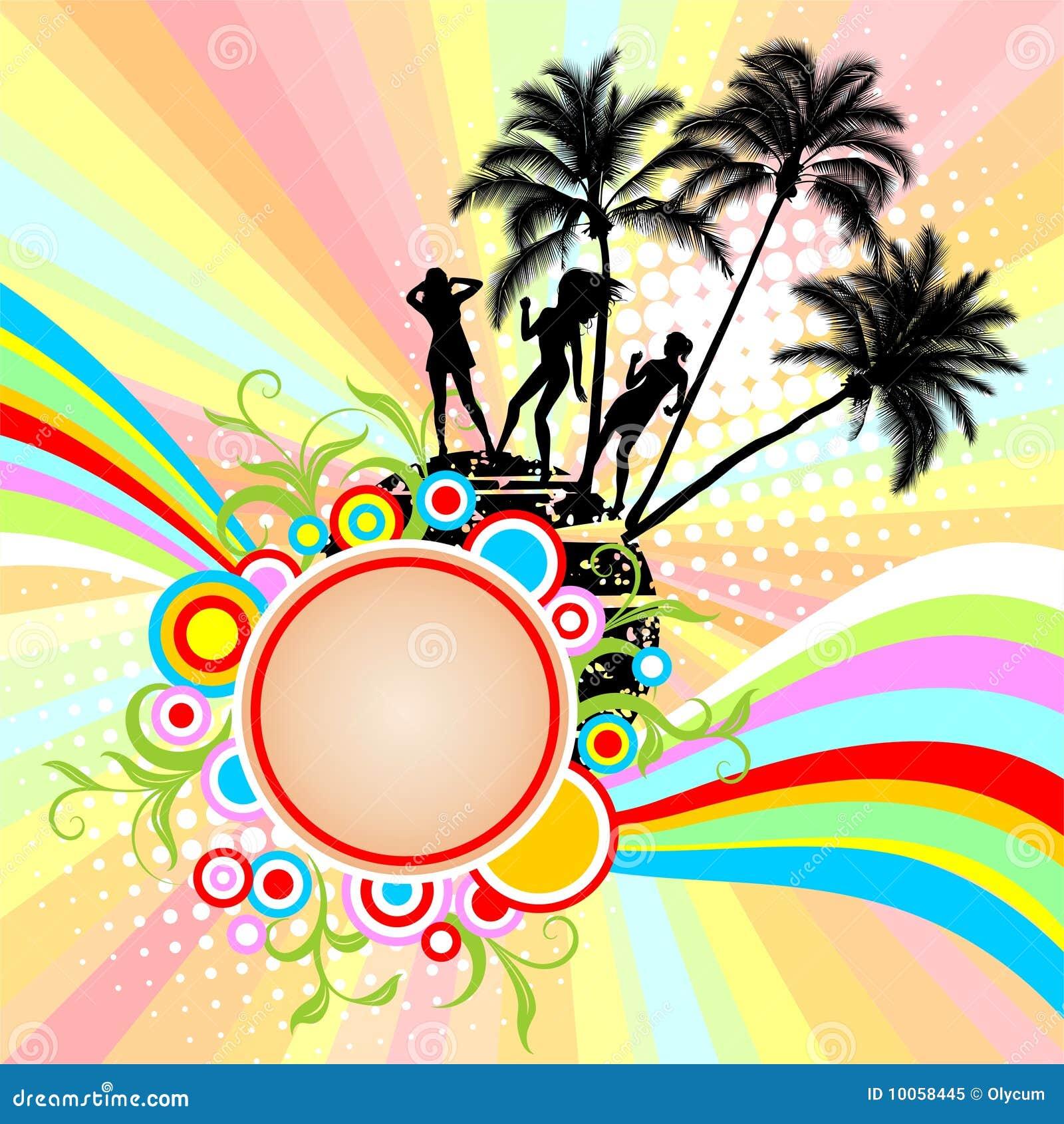 Beira com palmeiras