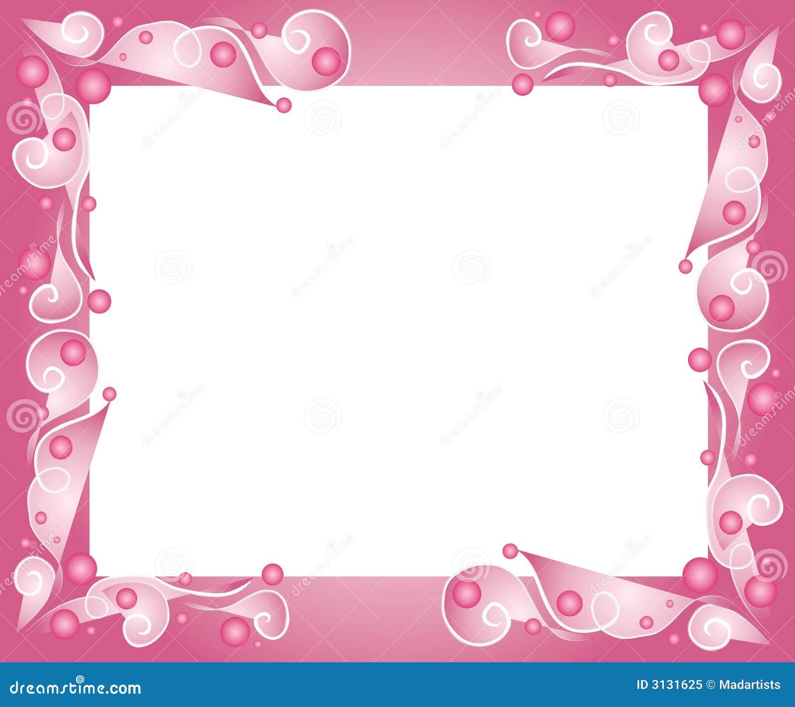 Beira Cor De Rosa Decorativa Do Frame Ilustra 231 227 O Stock