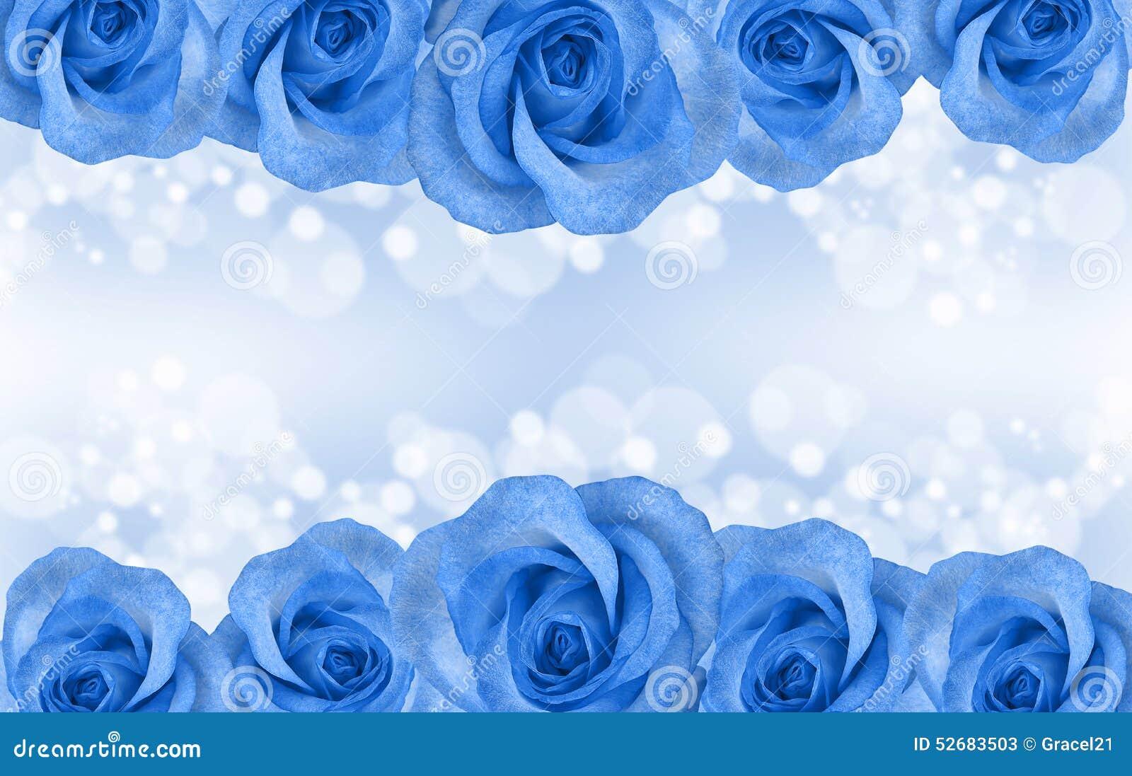 Beira De Rosas Azuis Foto de Stock - Imagem: 52683503