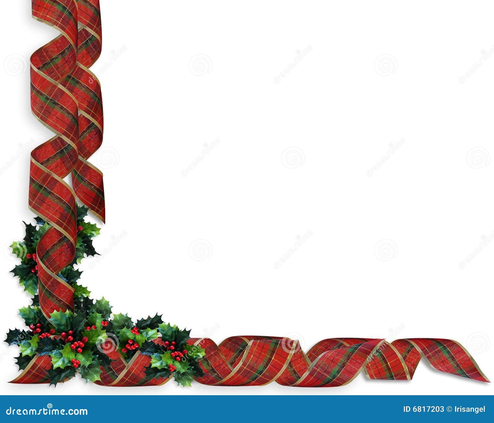 Beira do azevinho das fitas do Natal