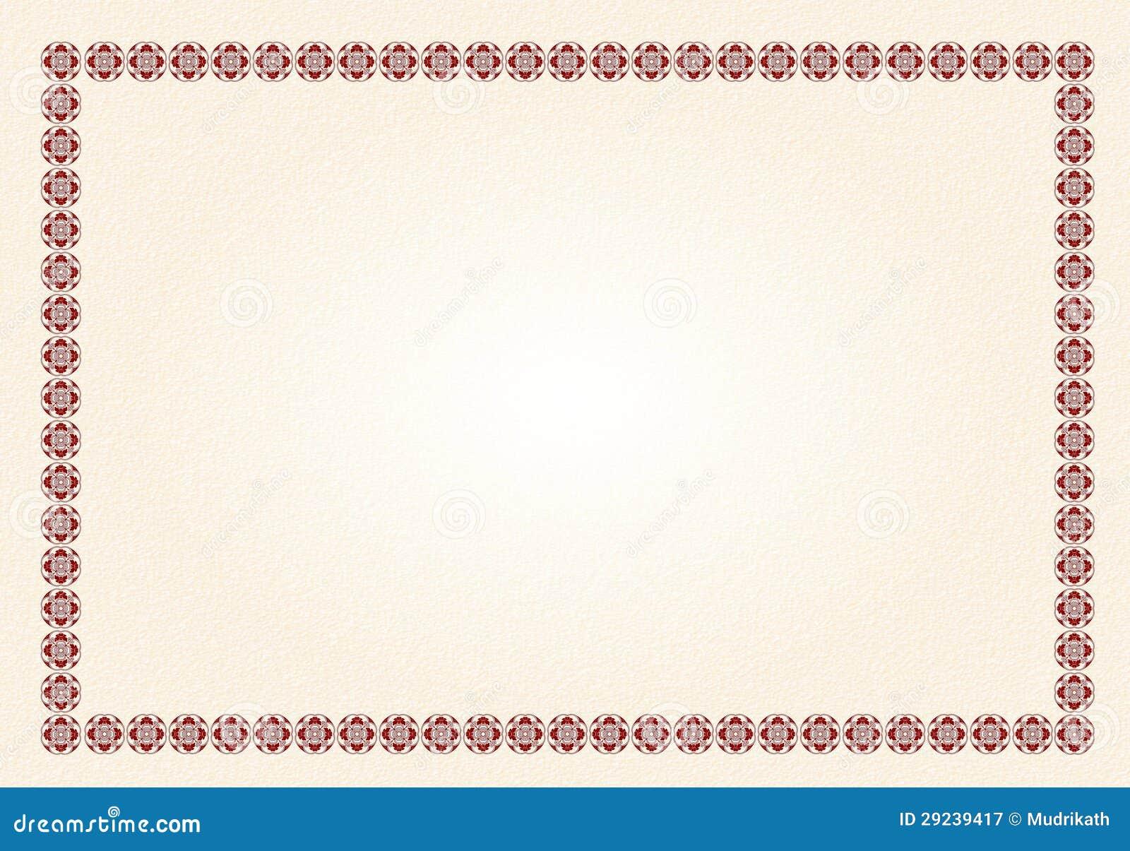 Download Beira Do Fundo Do Certificado Imagem de Stock - Imagem de beira, agradável: 29239417