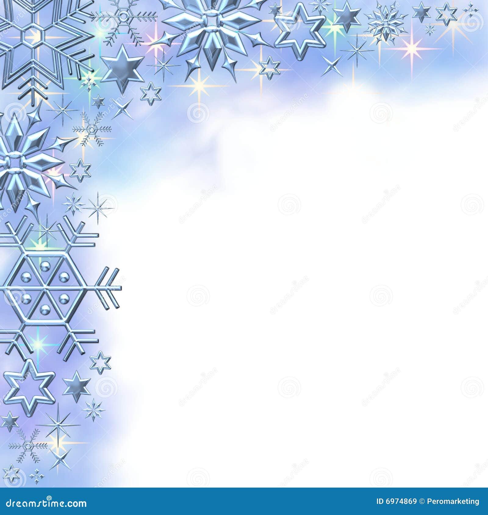 Beira do inverno do floco de neve