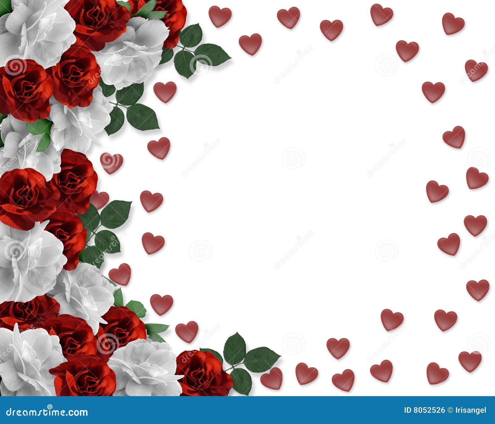 Beira dos corações e das rosas do dia dos Valentim