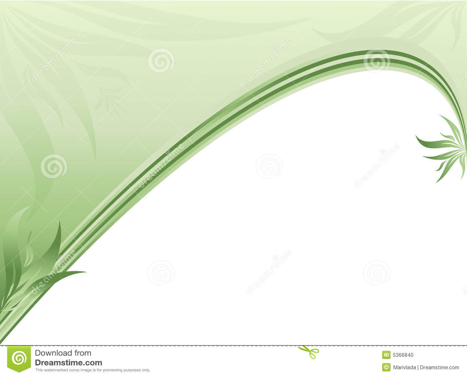 Beira ecológica abstrata com plantas